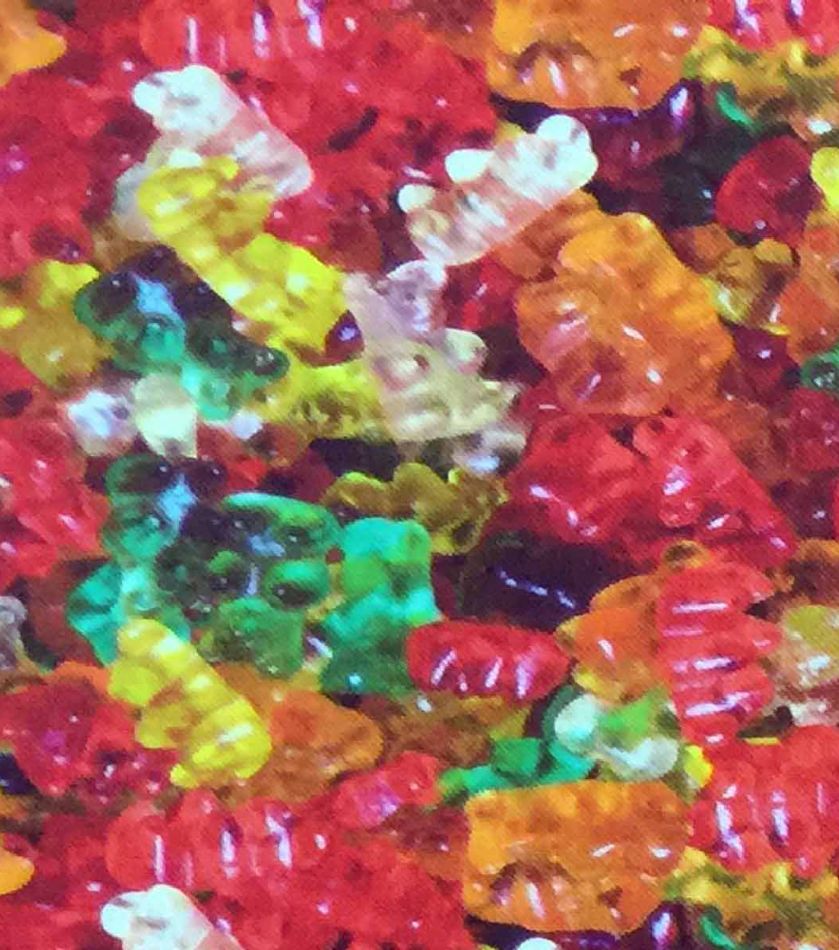 Novelty Cotton Photo Real Fabric 44\u0022-Gummies