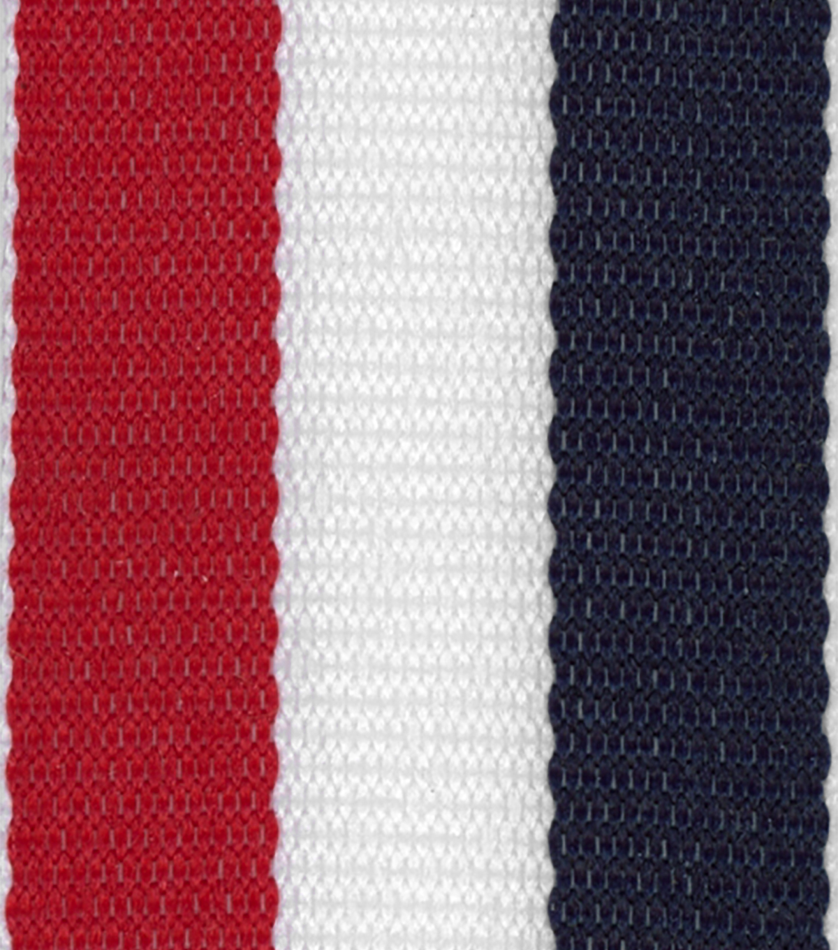 Offray 7/8\u0022x9\u0027 Tri Stripe Woven Patriotic Ribbon-Navy