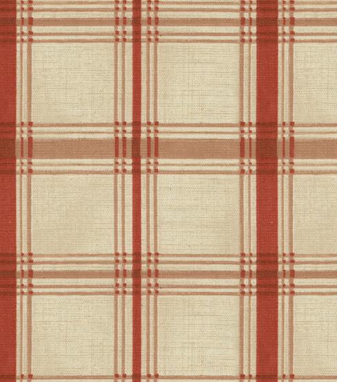 Waverly Multi Purpose Decor Fabric 54 U0022 Pantry Plaid Crimson