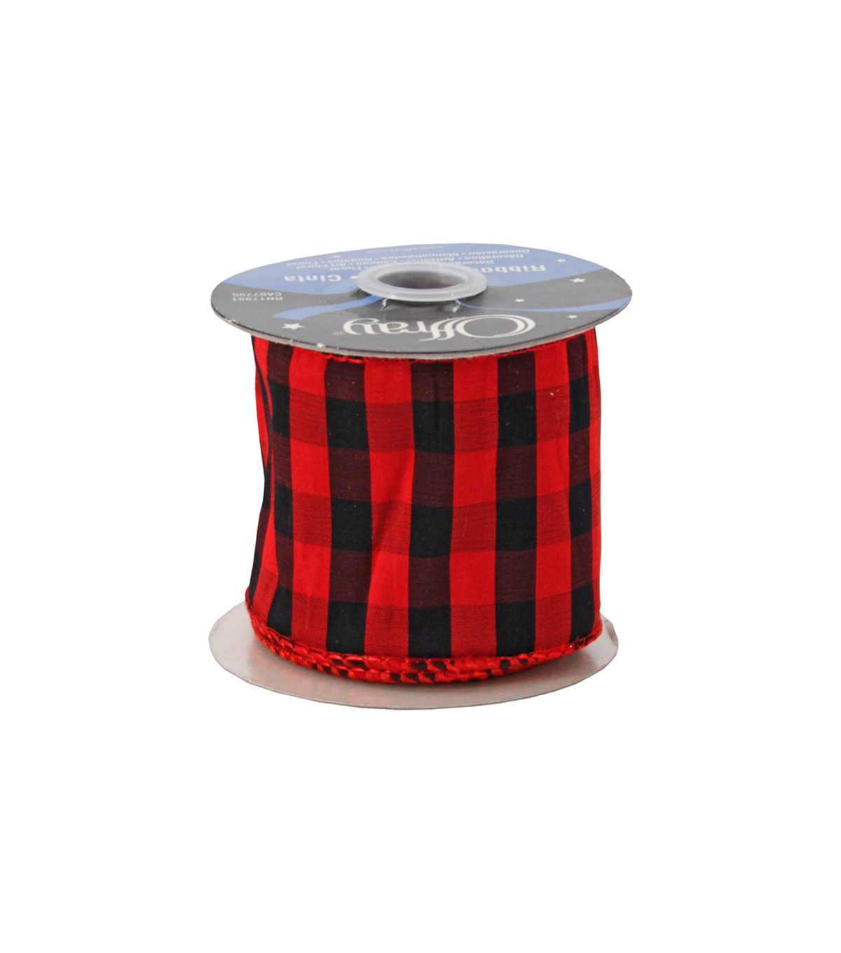 "Offray Wired Clubhouse Luxury Ribbon  2.5"" x 5 Yards"