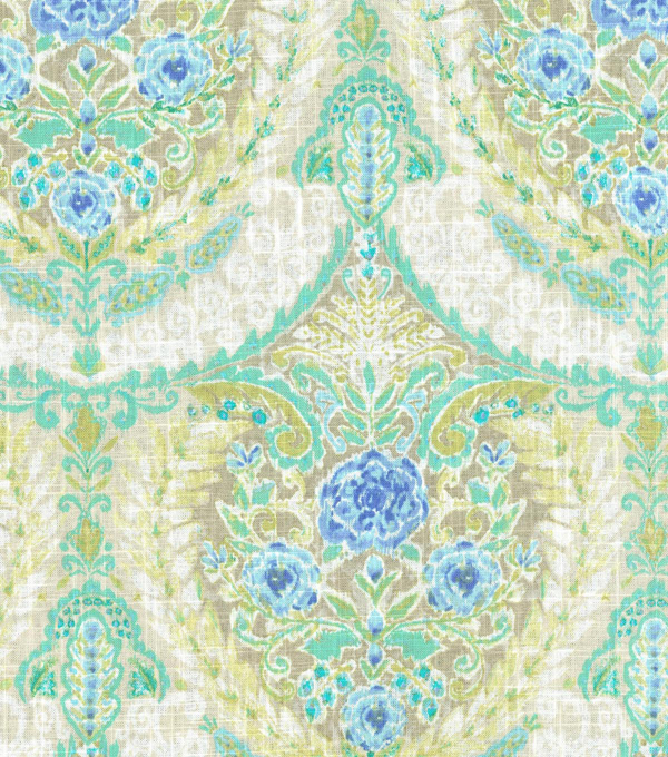 Dena Home Upholstery Fabric 54\u0022-Mural Floral/Tidepool