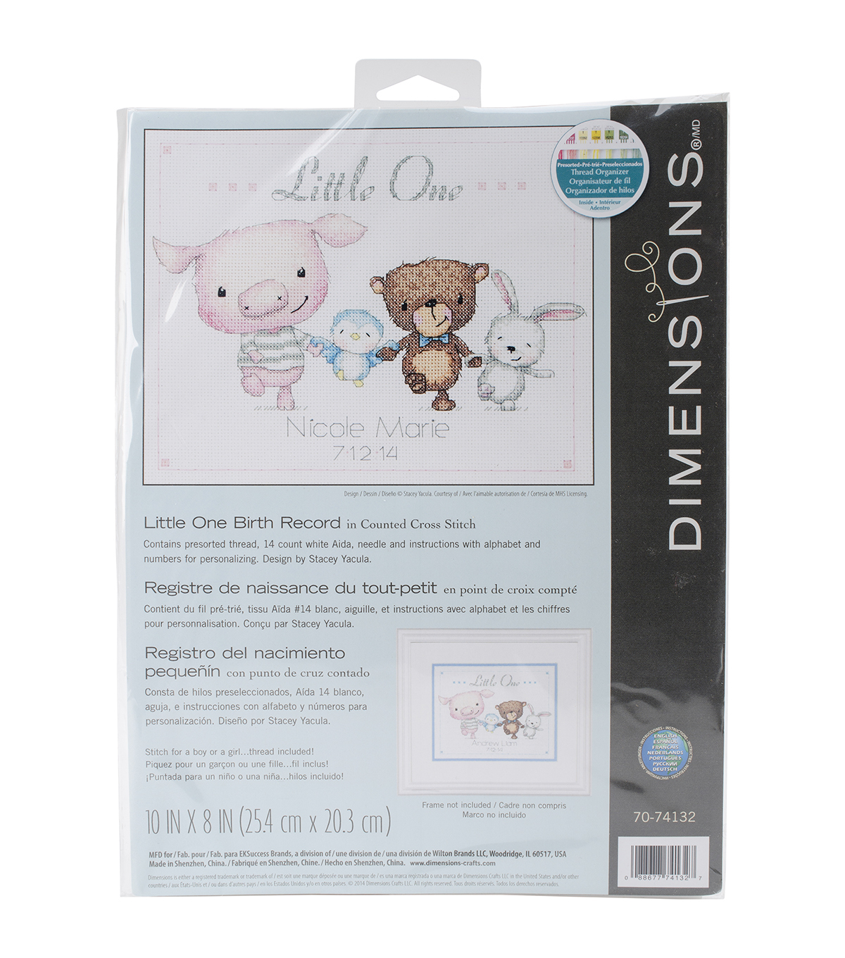 Dimensions Little One Birth Record Counted Cross Stitch Kit