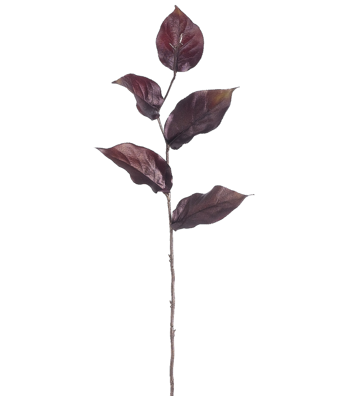 "Bloom Room 22"" Charisma Lemon Leaf Spray-Burgundy"