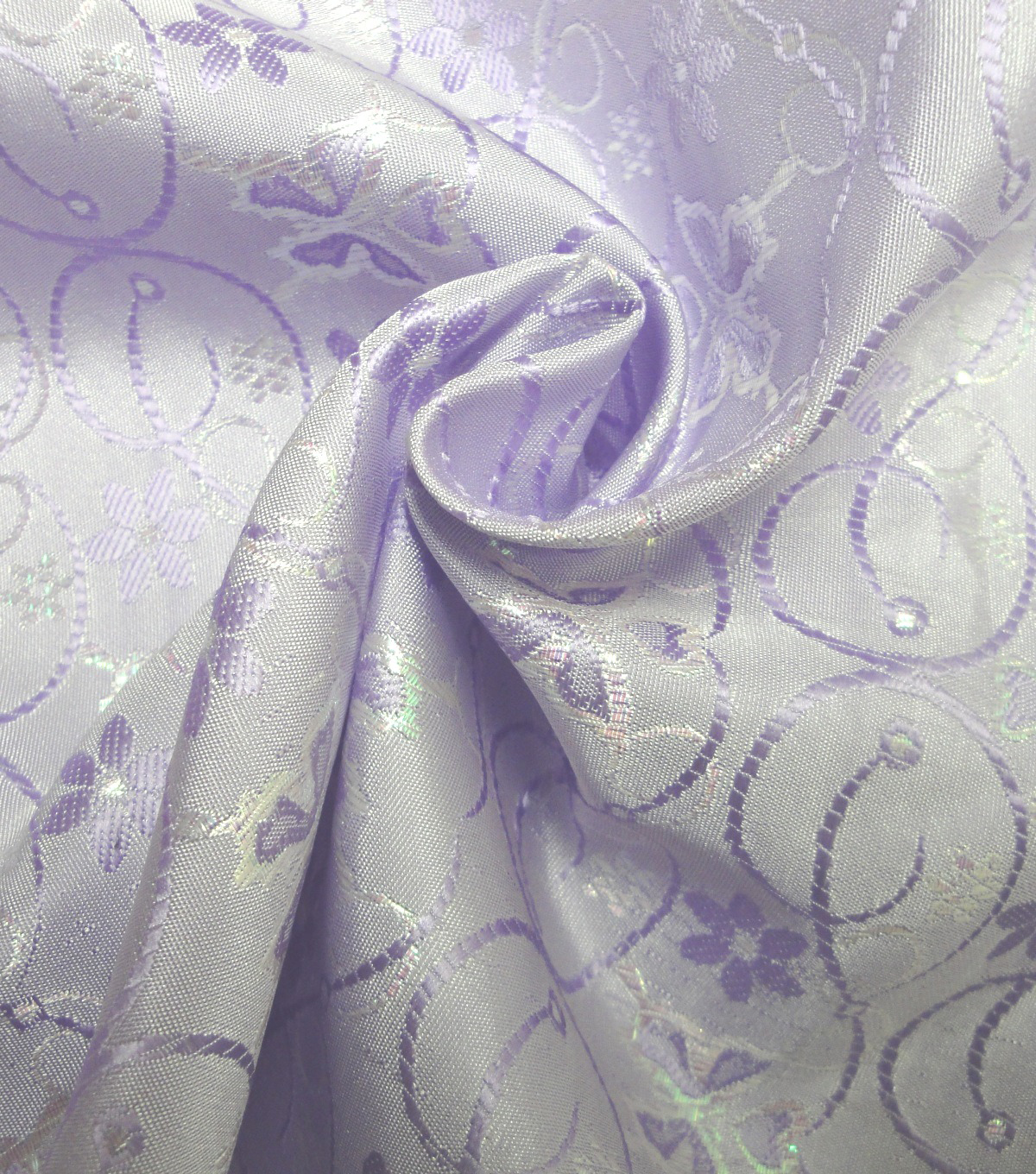 Glitterbug Brocade Fabric 59''-Iridescent Lavender Butterfly
