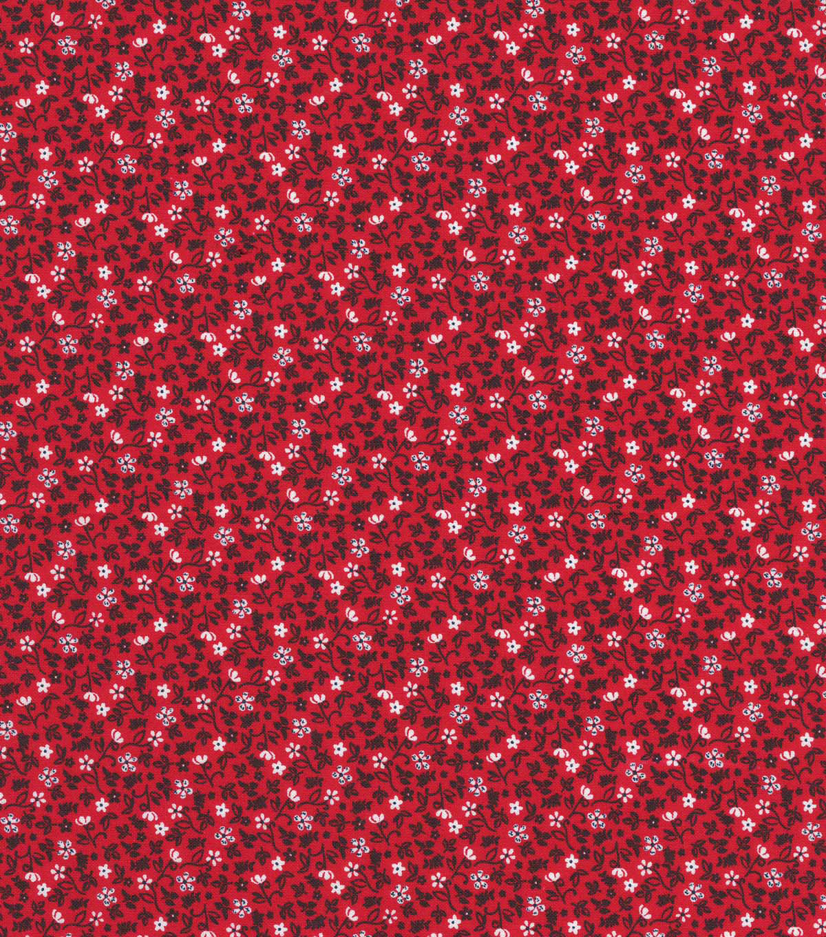 Quilter\u0027s Showcase™ Cotton Fabric 44\u0022-Red Navy Ditsy Floral