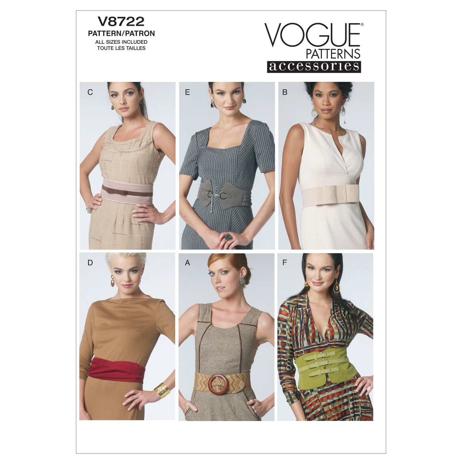 Mccall Pattern V8722 All Sizes -Vogue Pattern