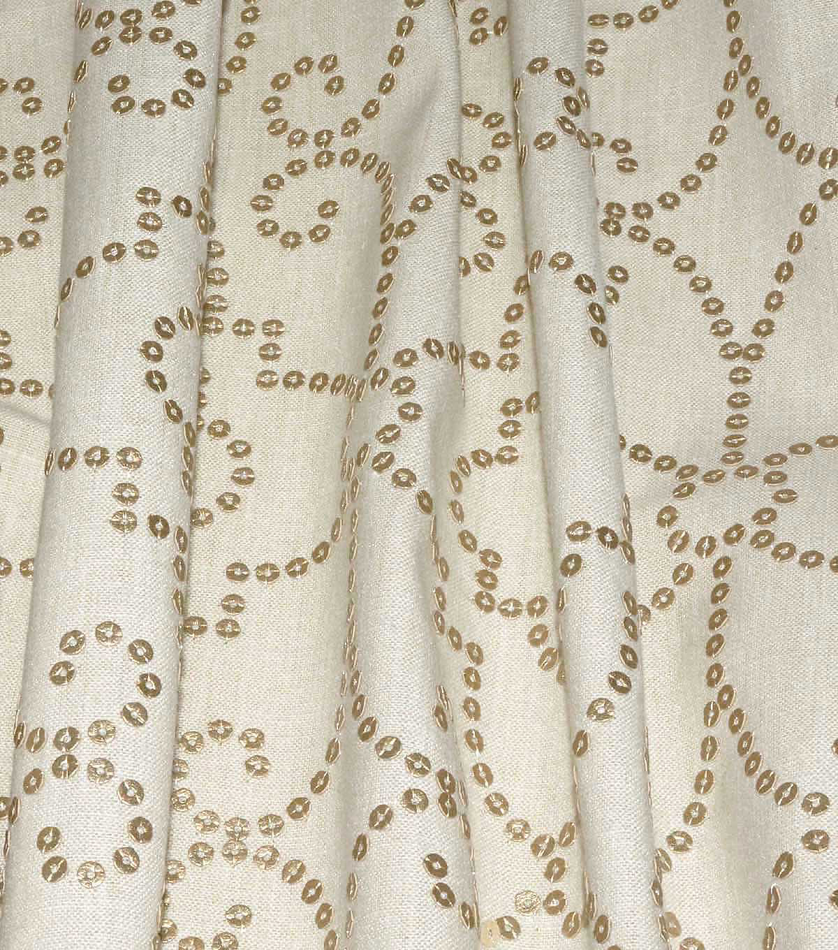 Dena Home Embroidered Upholstery Fabric 54\u0027\u0027-Gilded Wow Factor
