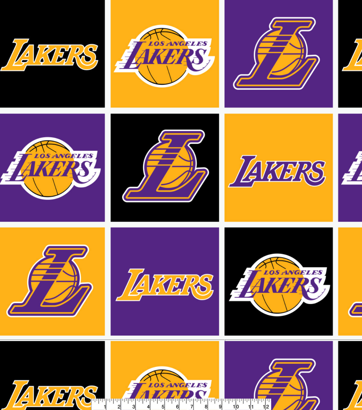 LA Lakers Fleece Fabric 58\u0022-Block