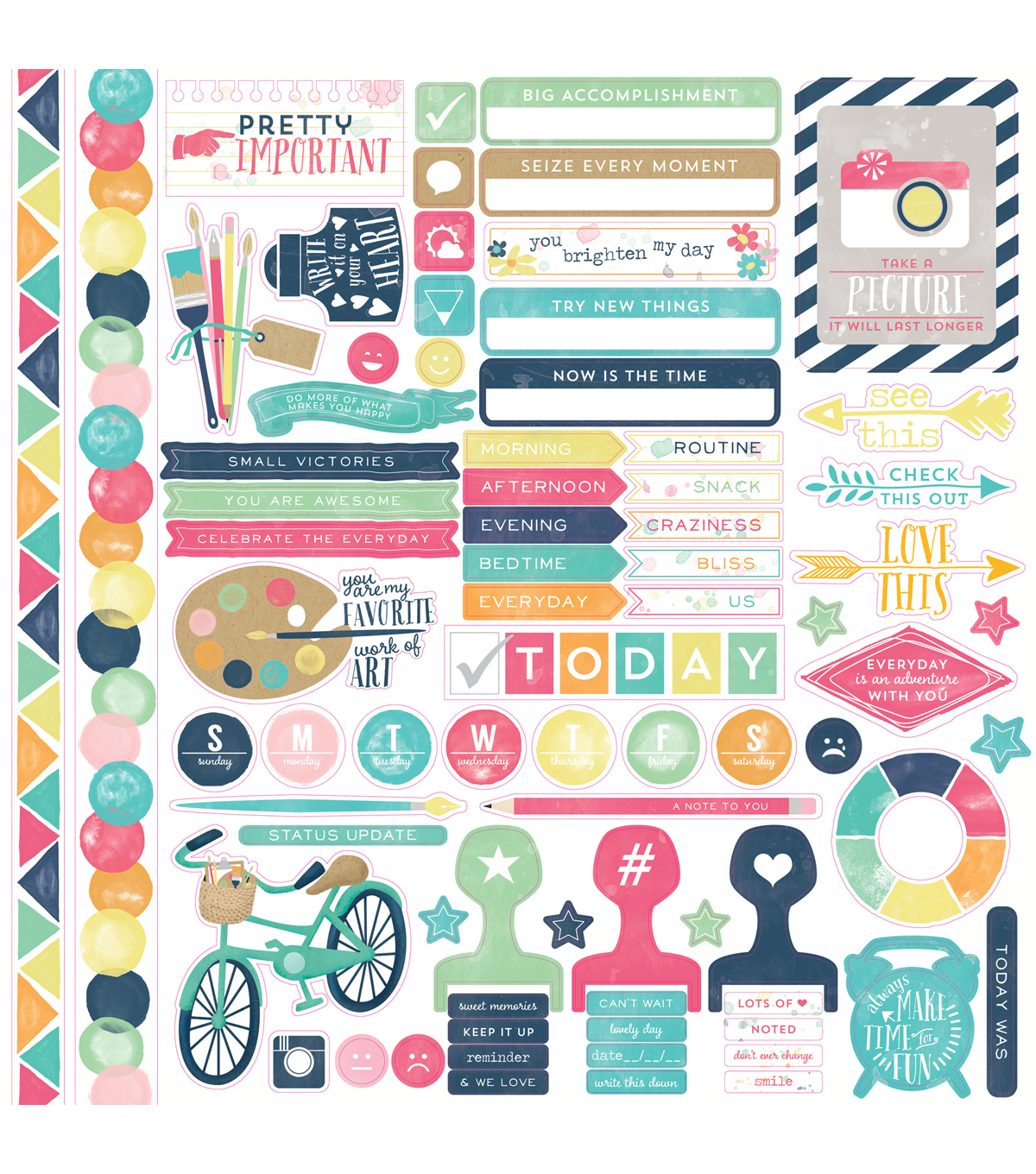 Creative Agenda Cardstock Stickers 12\u0022X12\u0022-Element
