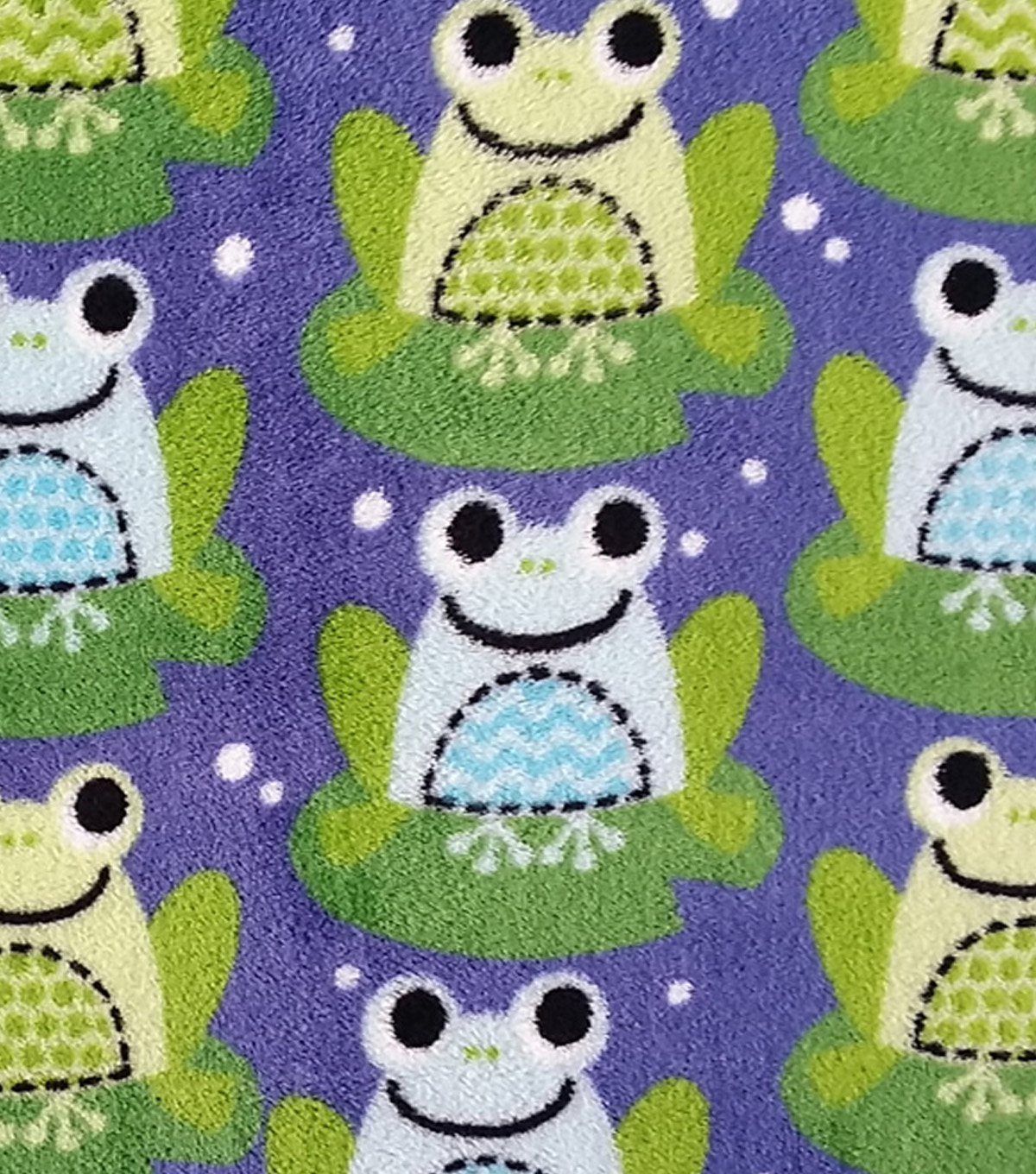 "Ultra Fluffy Fleece Fabric 58""-Happy Frogs"