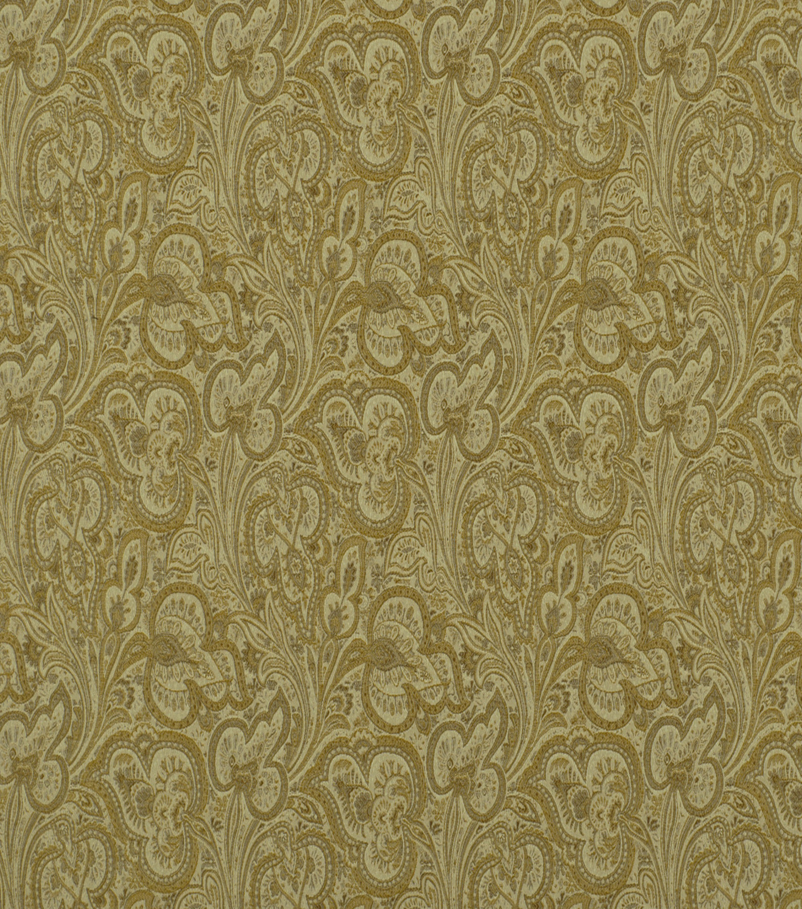 Home Decor 8\u0022x8\u0022 Fabric Swatch-Solid Fabric Robert Allen Paisley Fleur Pearl