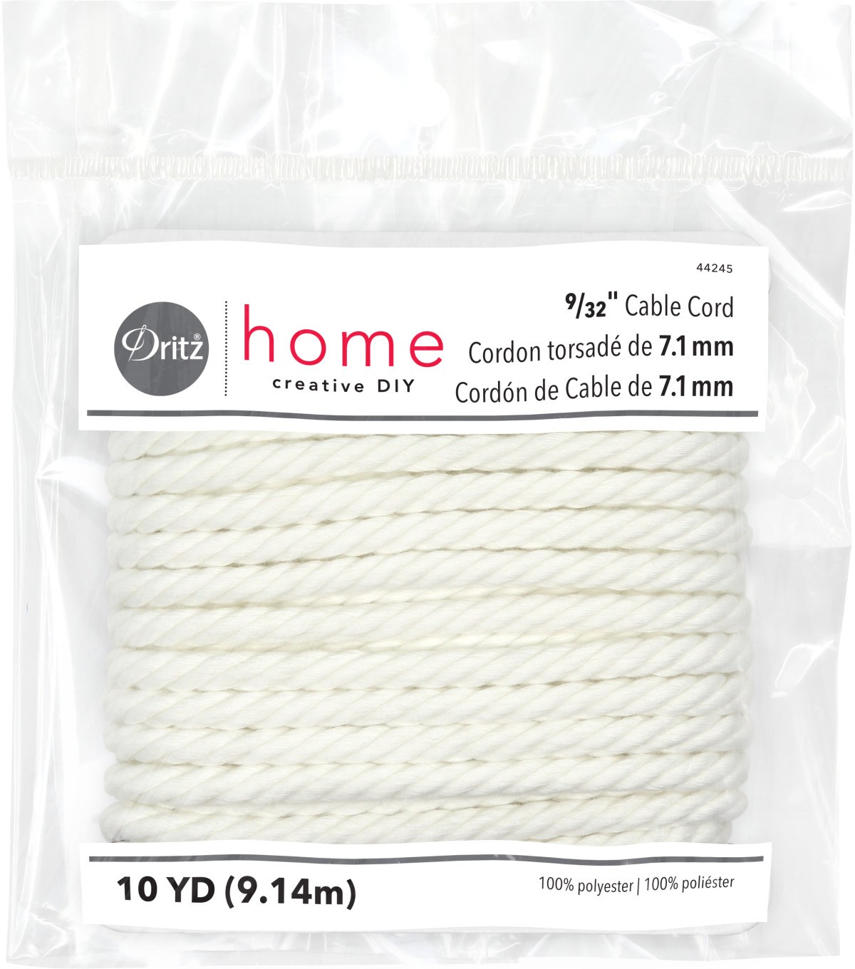 Dritz Home 0.28\u0022 x 10Yds Cable Cord