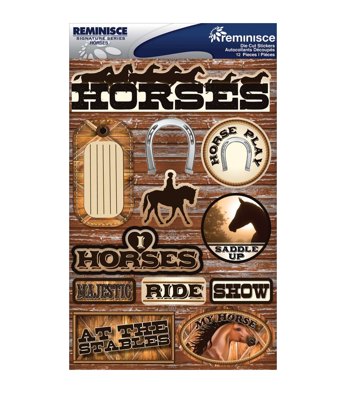 Reminisce Signature Dimensional Stickers Horses