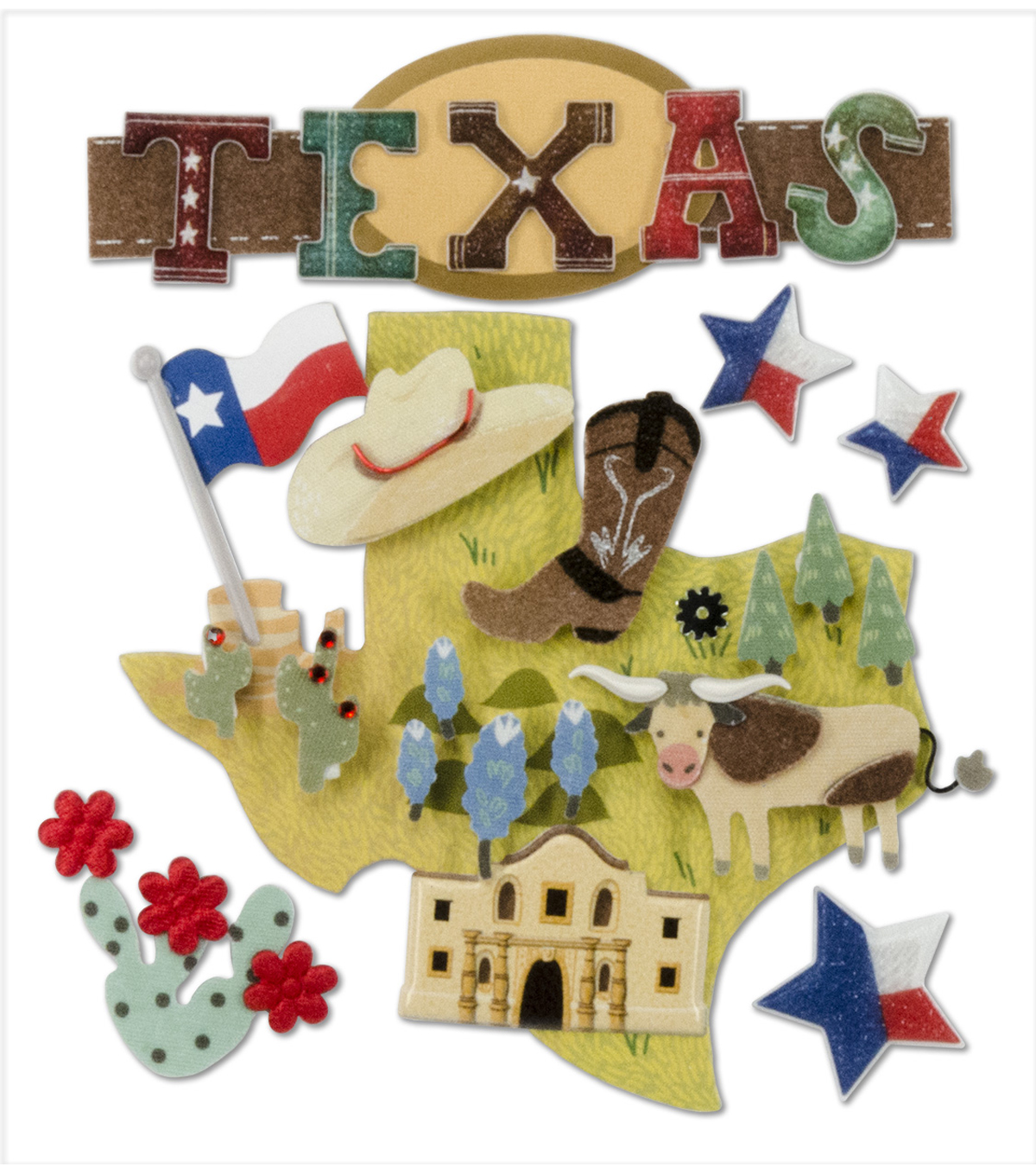 Jolee's Boutique® Stickers-Texas