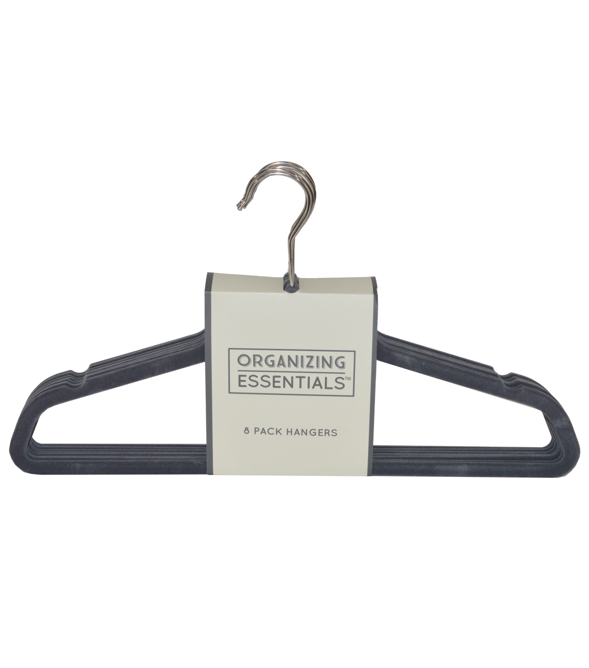 Organizing Essentials™ 8 Pack Hangers-Gray & Silver