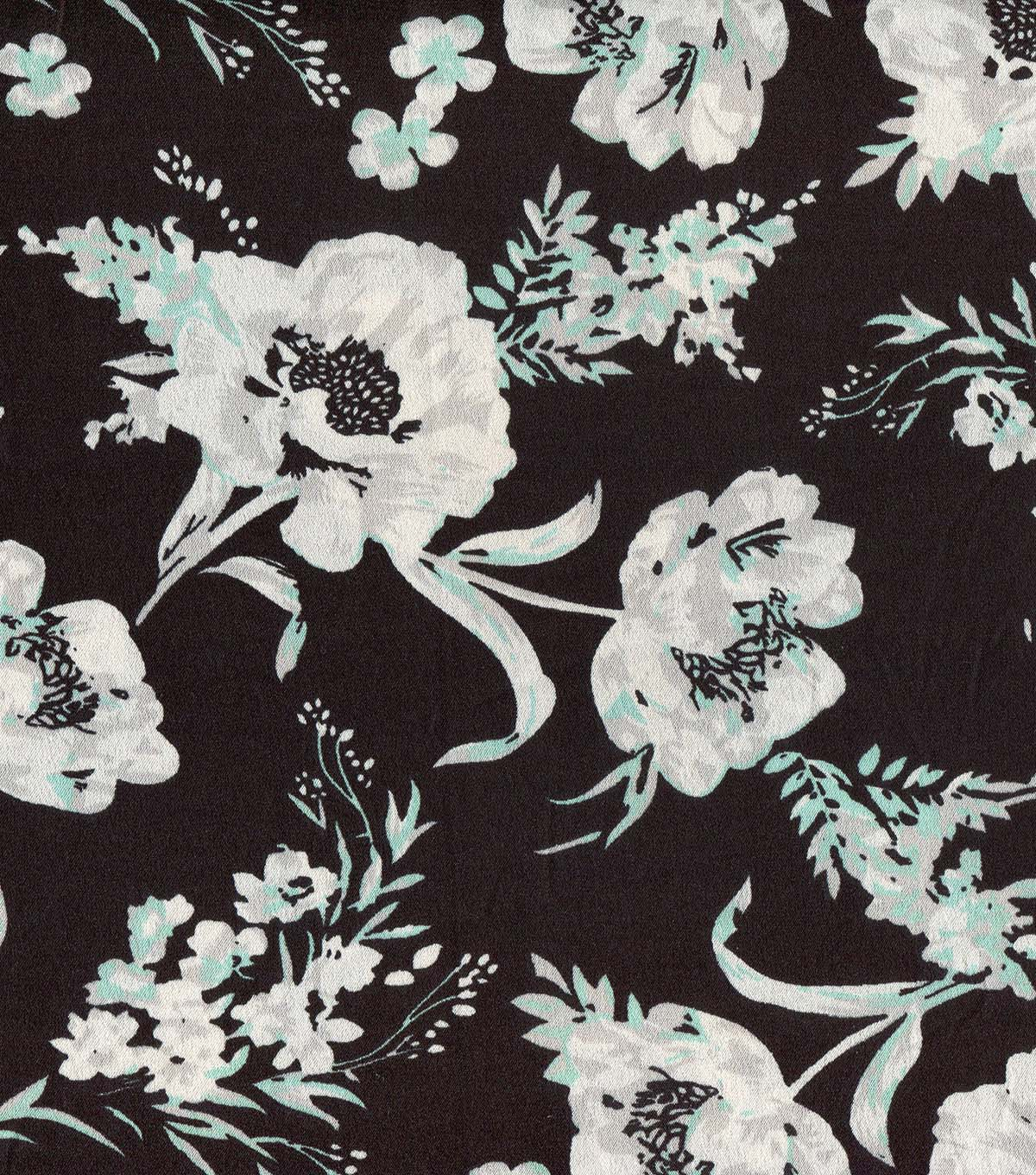 Silky Prints Crepe Fabric 56\u0022-Floral