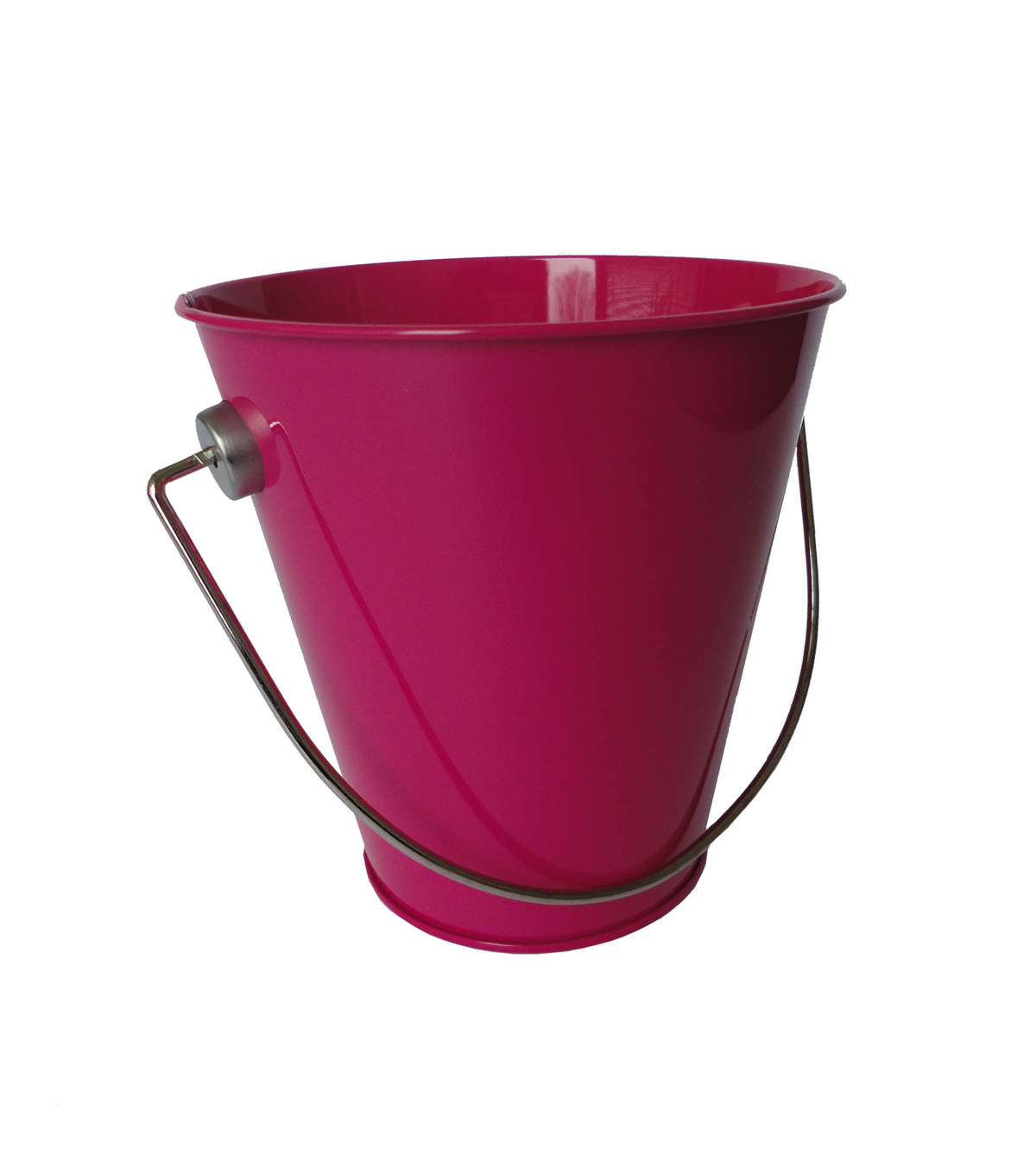 Tin Pail Small Fuschia