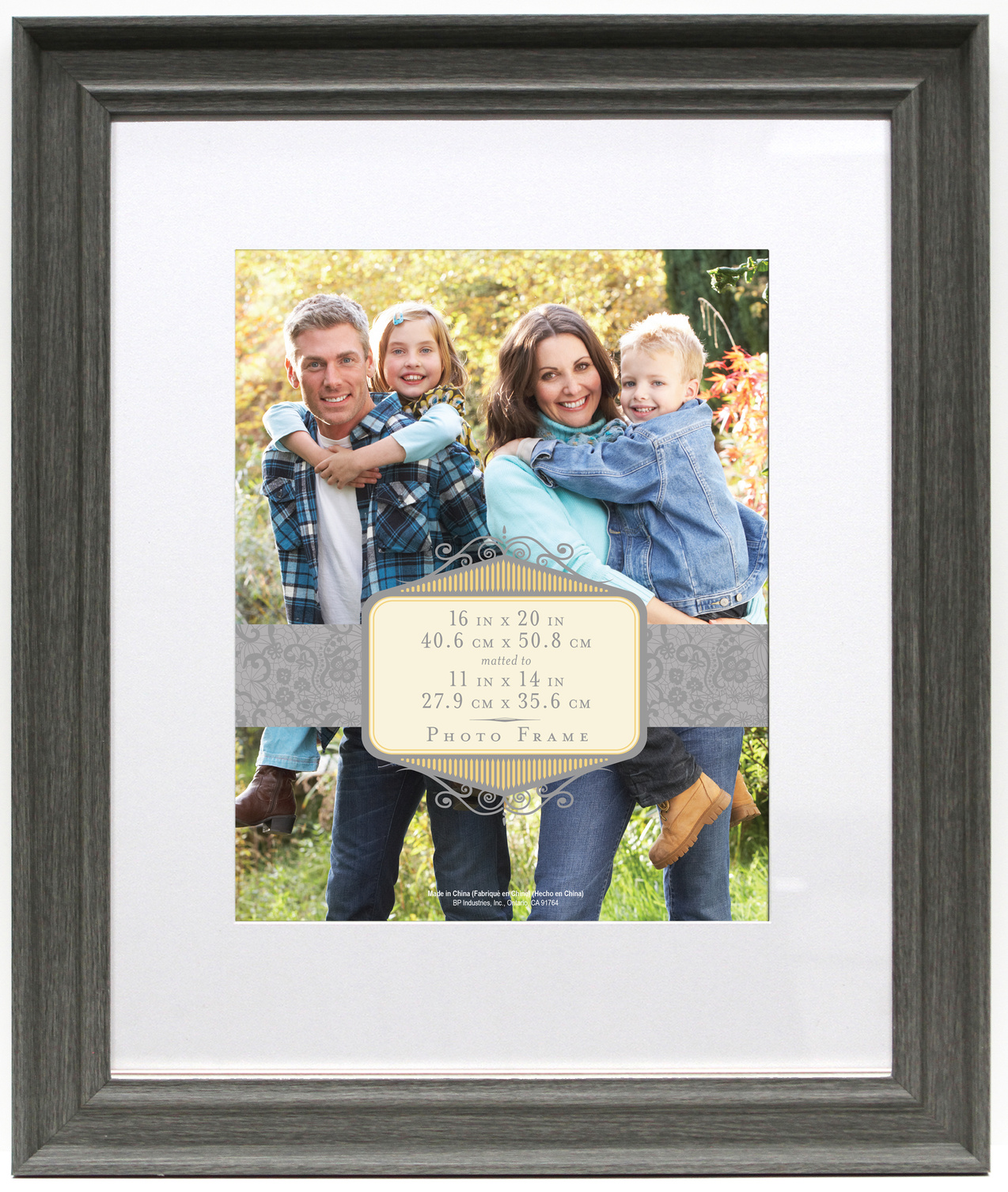 Wall Frame 16X20 Mat To 11X14-Rustic Gray