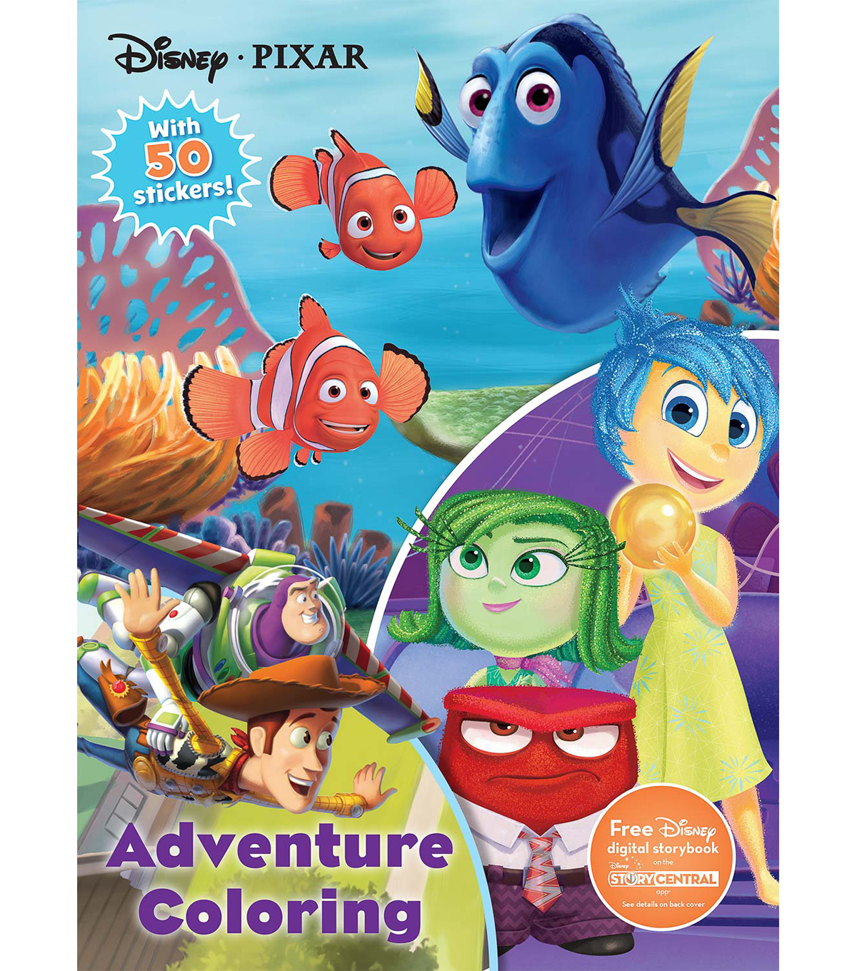 Parragon Disney® Pixar Adventure Coloring Activity Book