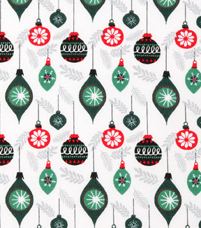 Christmas Cotton Fabric 43\u0022-Mini Hanging Ornaments