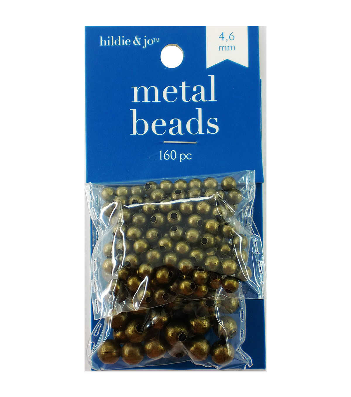 Blue Moon Beads Metal Beads 4mm, 6mm, Round, Oxidized Brass