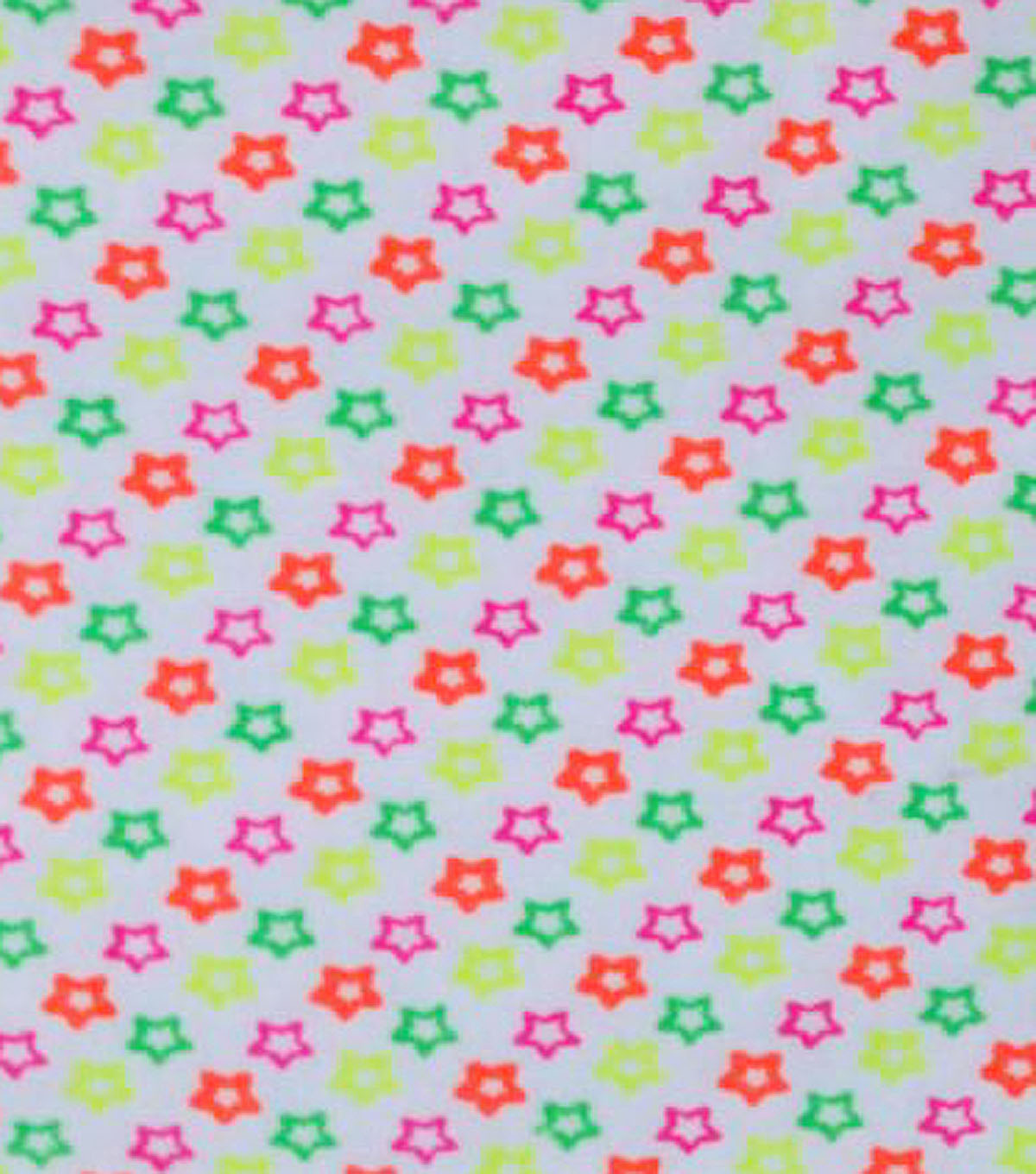 Fashion Flannel Stars Neon Fabric
