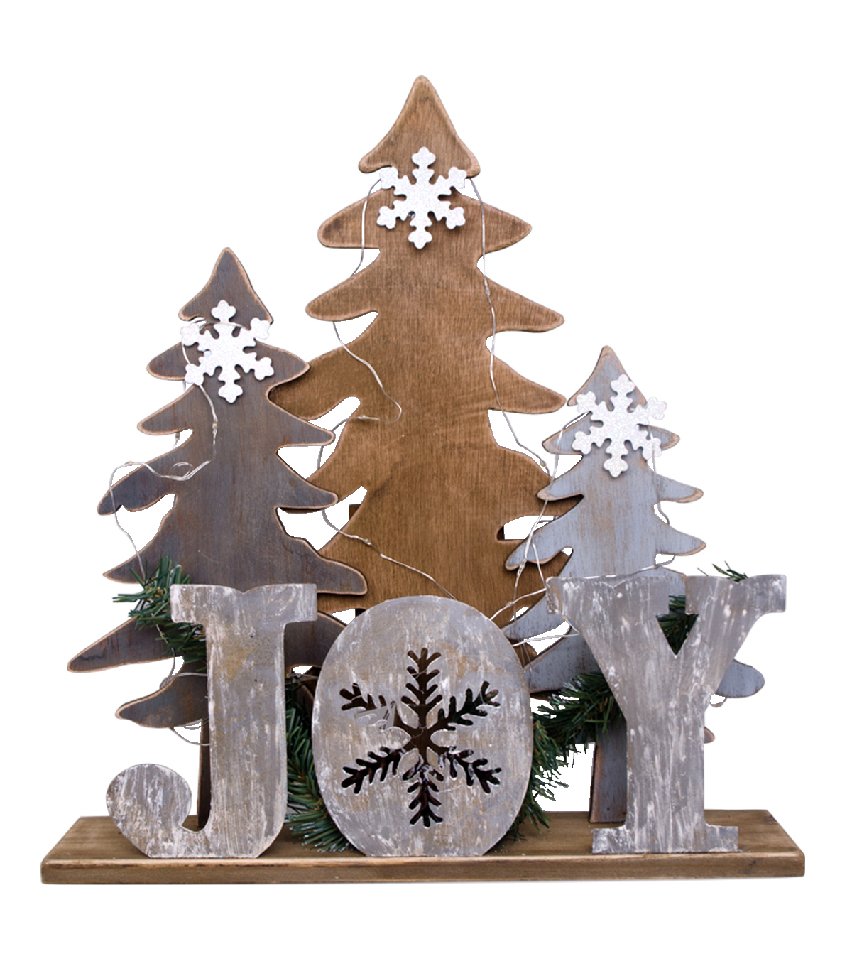 Maker's Holiday Tree Scene LED Table Decor