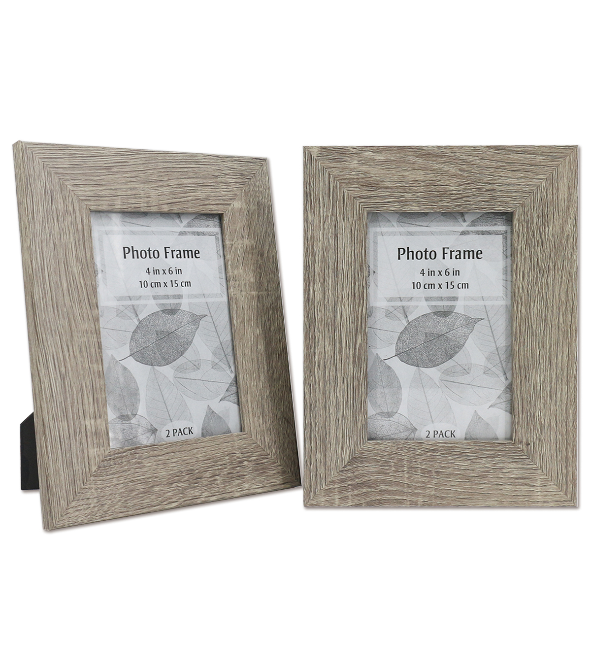 Wooden Photo Frames 2 pk 4\u0027\u0027x6\u0027\u0027-Taupe