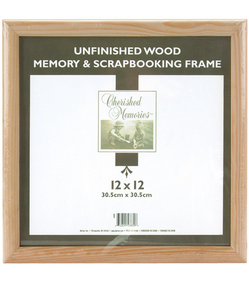 Darice Wooden Memory Frame 12X12-Unfinished