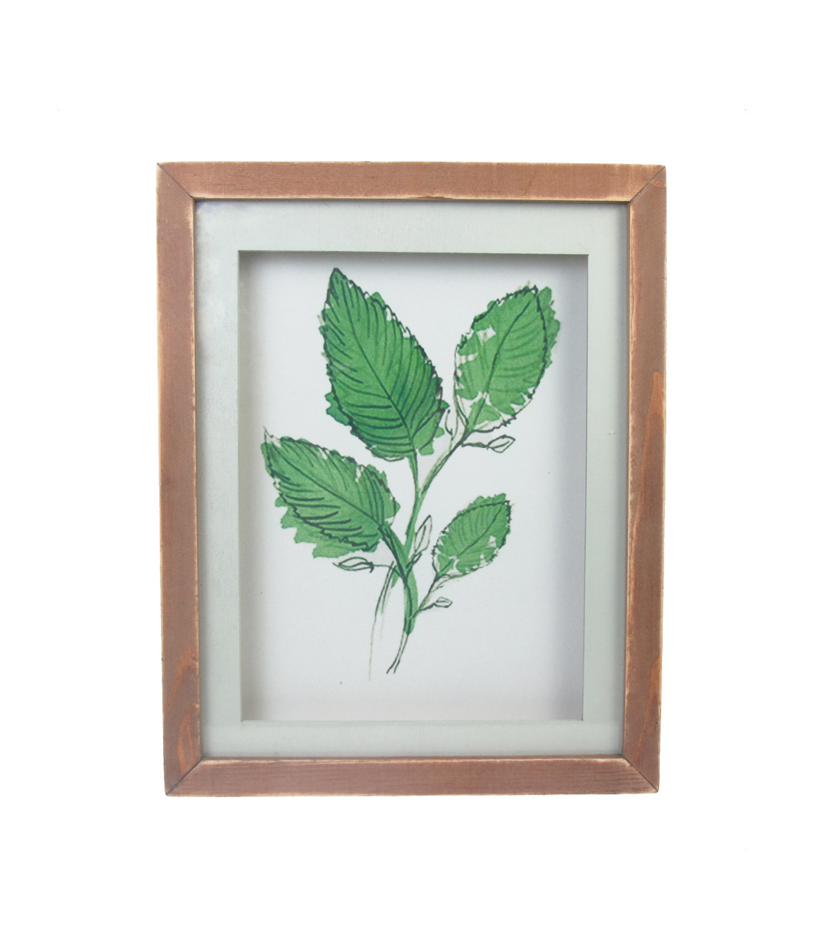 Hello Spring Glass Wall Decor-Leaf