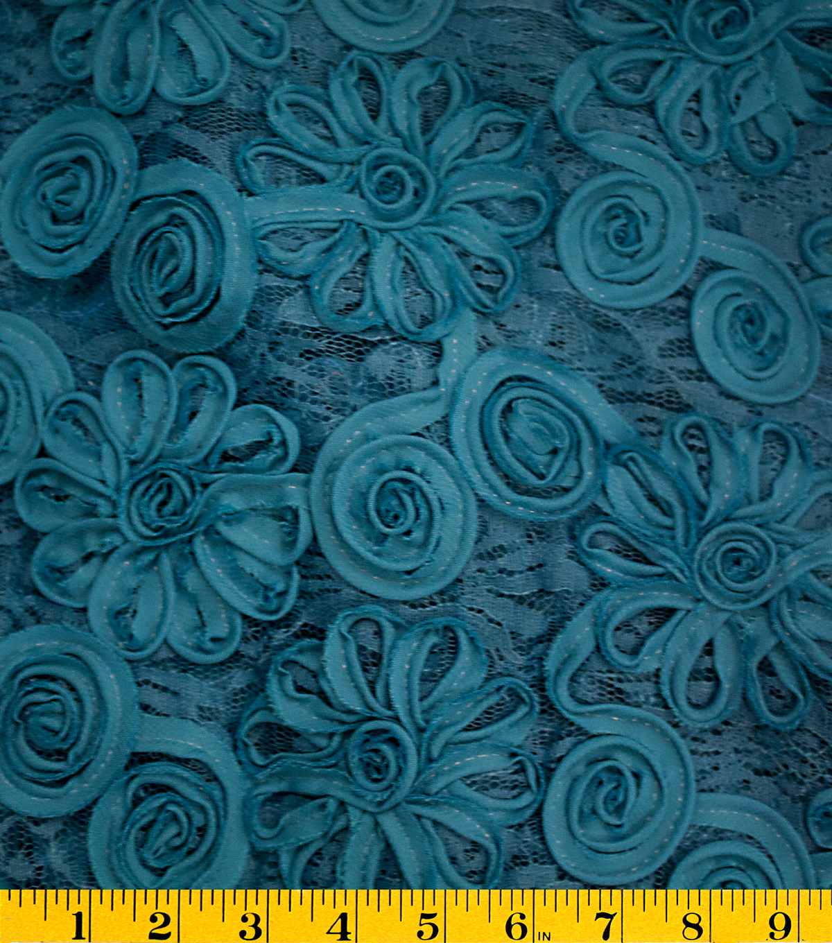 "David Tutera™ Celebrate Embroidered Lace Fabric 59""-New Teal"