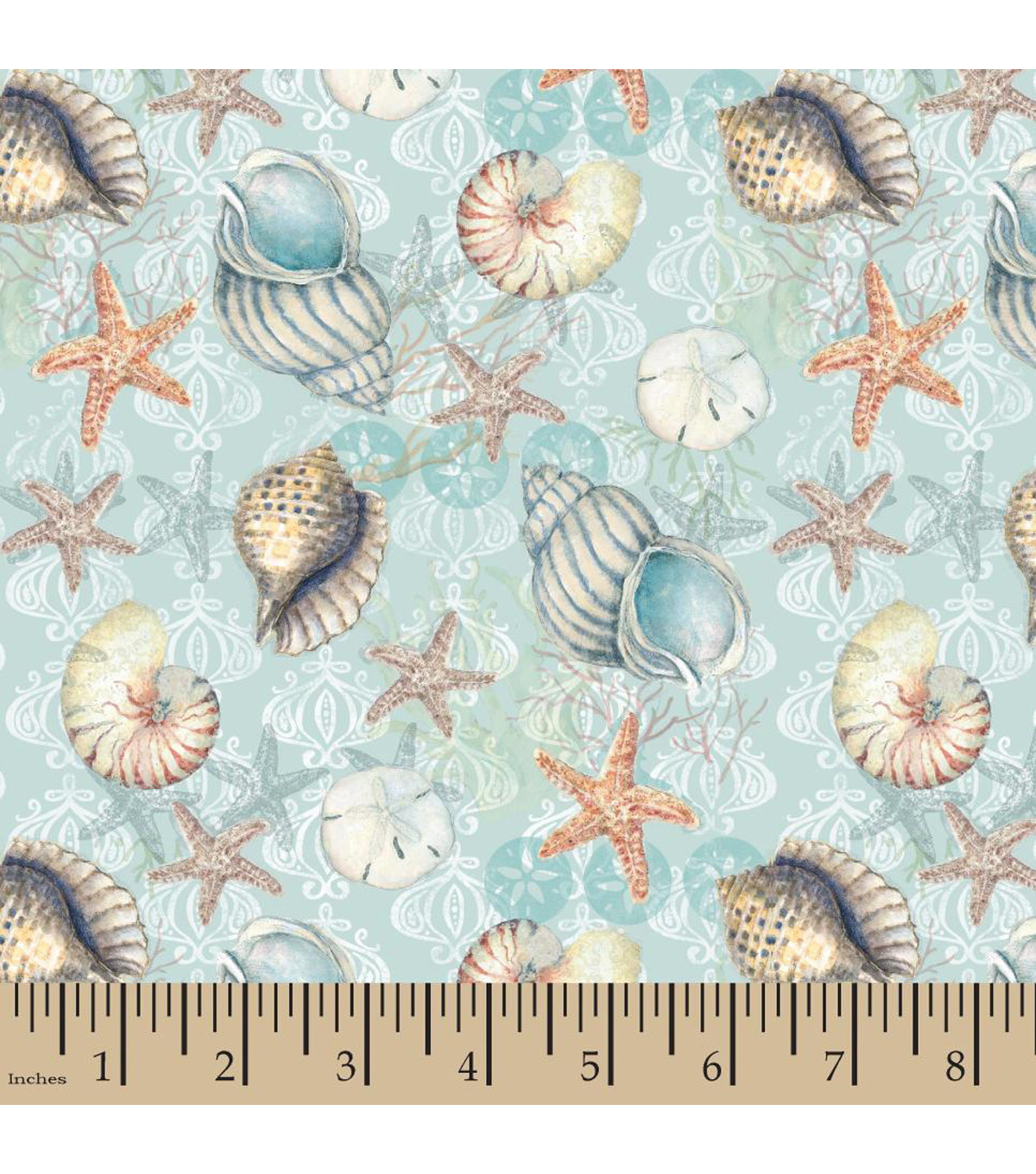 Susan Winget Cotton Fabric-Boho Coastal Shells