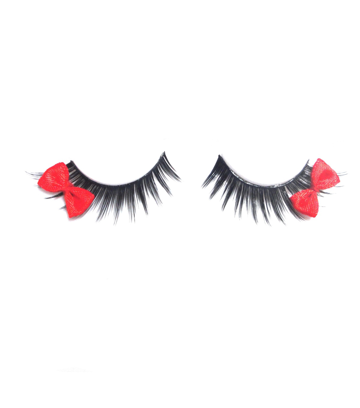 Maker\u0027s Halloween Black Eyelashes with Red Bows