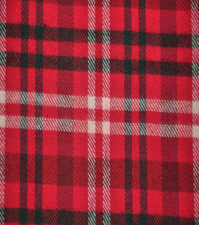 "Flannel Shirting Fabric 42.9""-Red Green Cream"