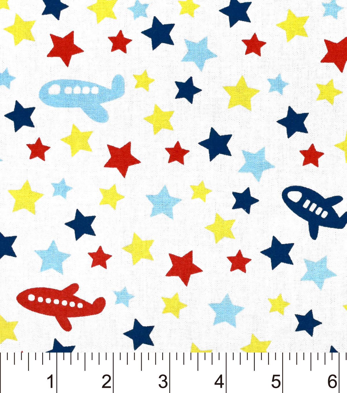 "Nursery Cotton Fabric 43""-Airplane Tossed"