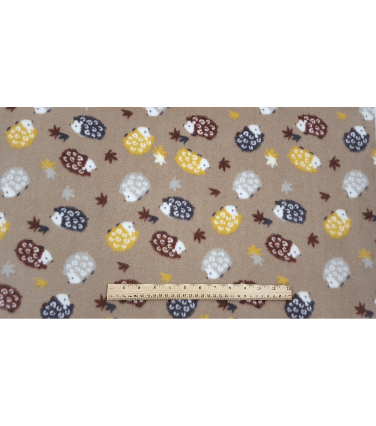 Anti-Pill Fleece Fabric 59\u0022-Woodland Hedgehogs