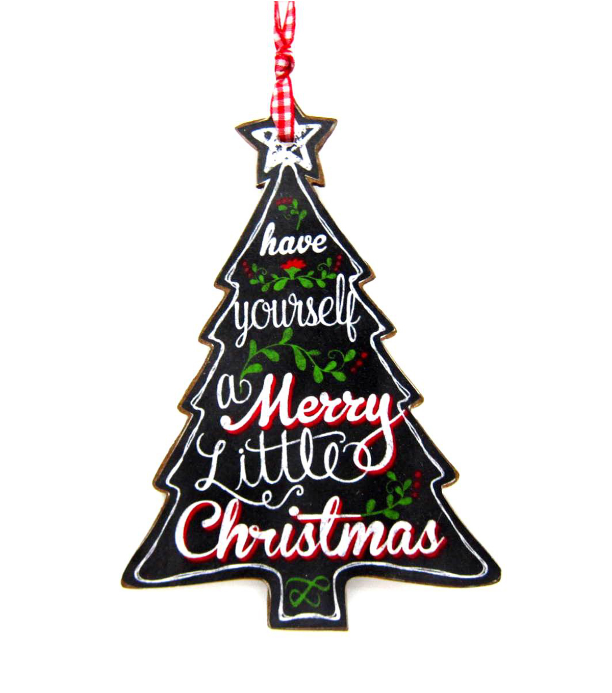 Maker\u0027s Holiday Merry Little Christmas Chalkboard Ornament