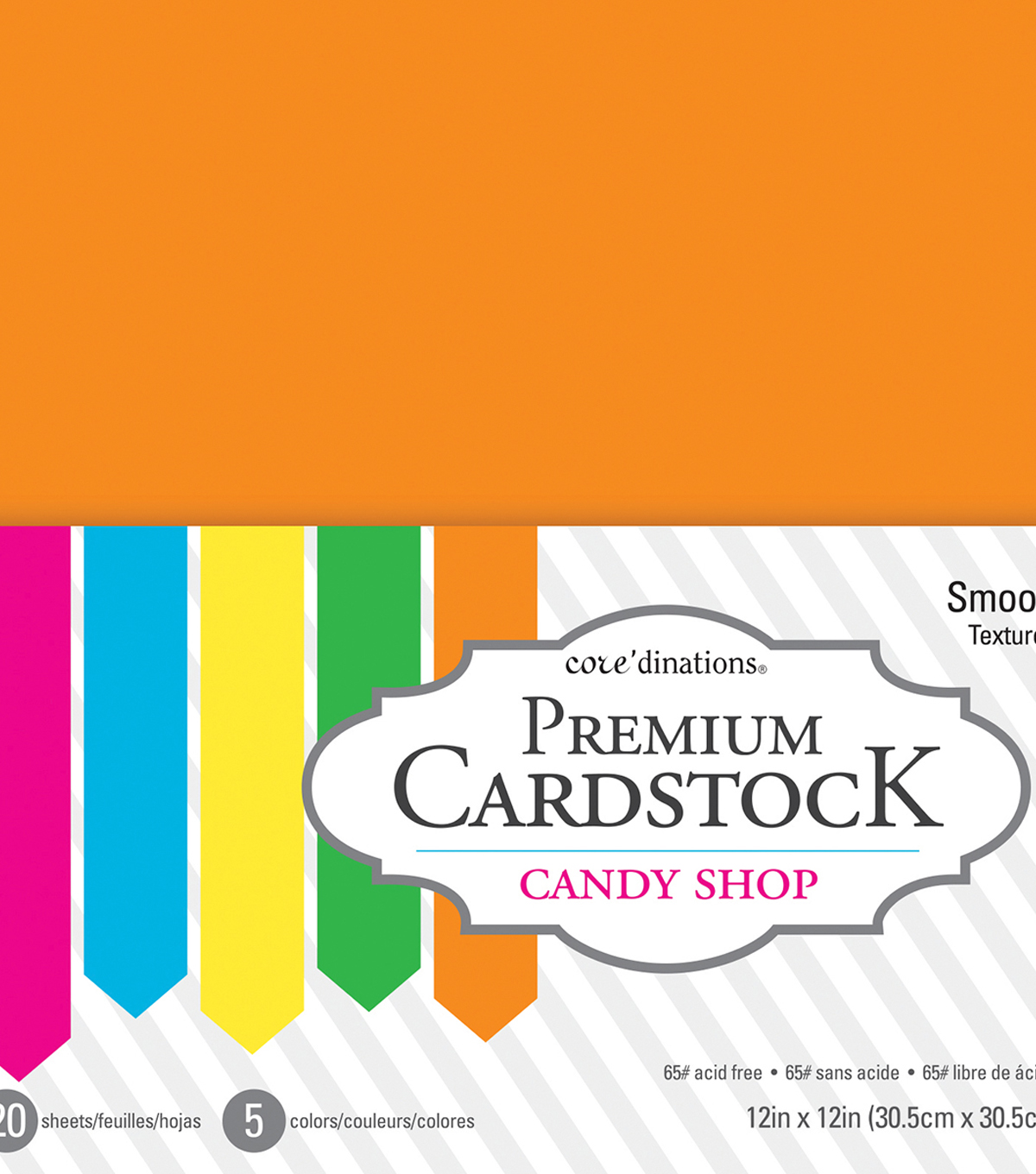 Core\u0027dinations Value Pack Smooth Cardstock 12\u0022X12\u0022-Candy Shop