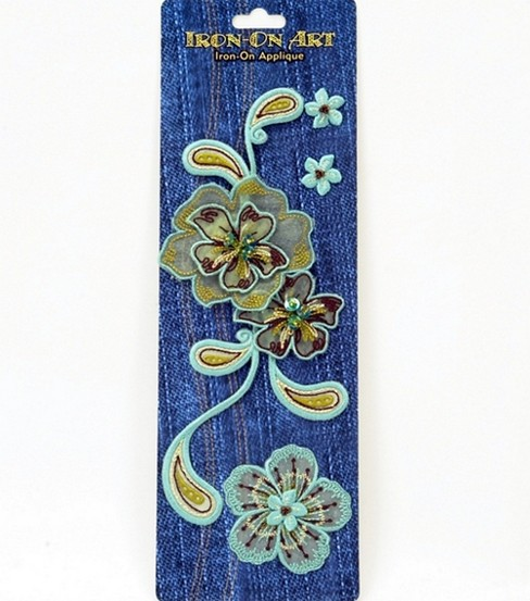 Sheer Flowers & Paisley Iron On Applique