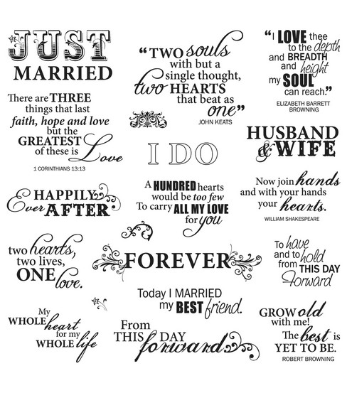 Fiskars Quotes Clear Stamps Just Married