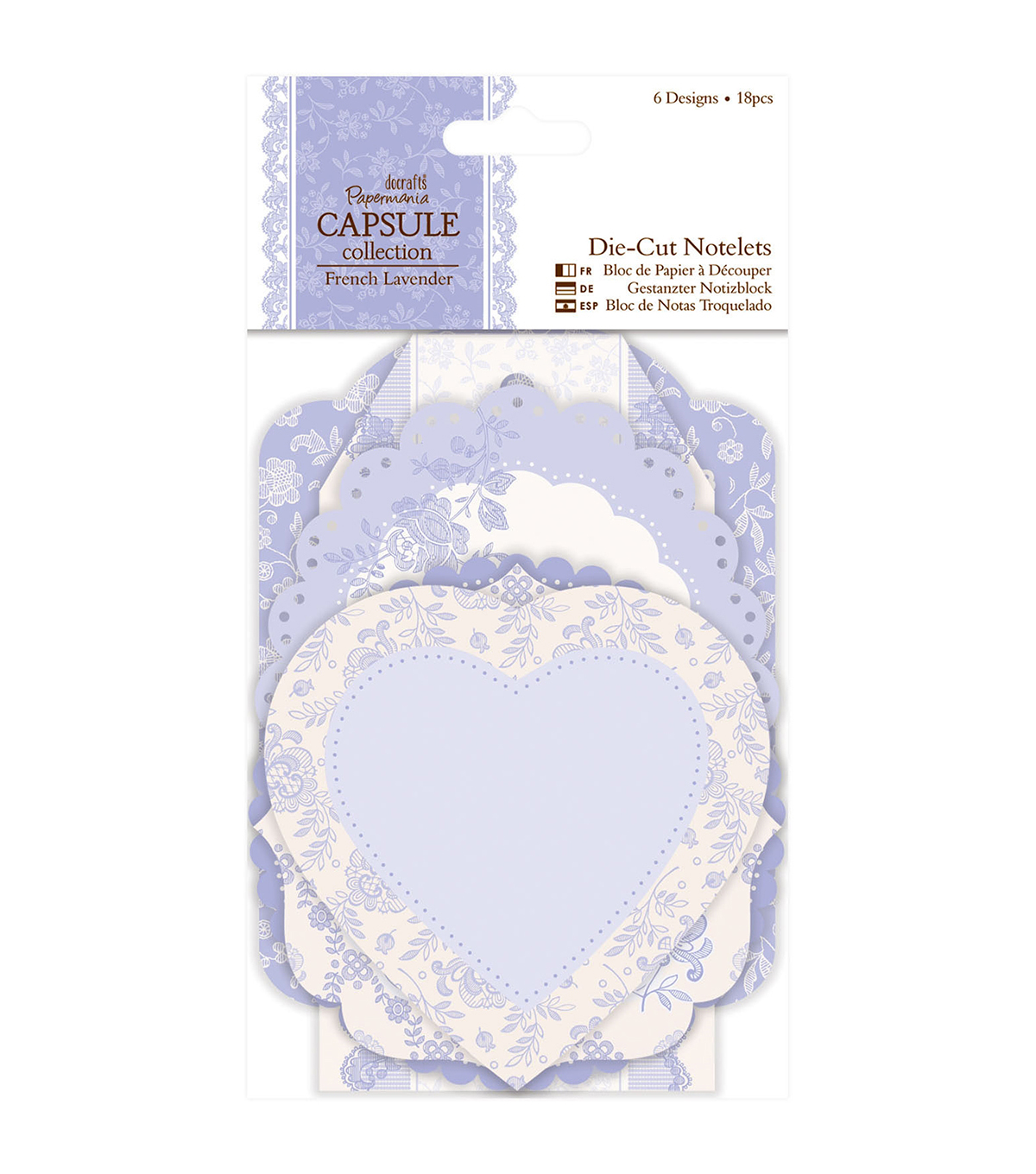 Papermania Capsule French Lavender Die-Cut Notelets