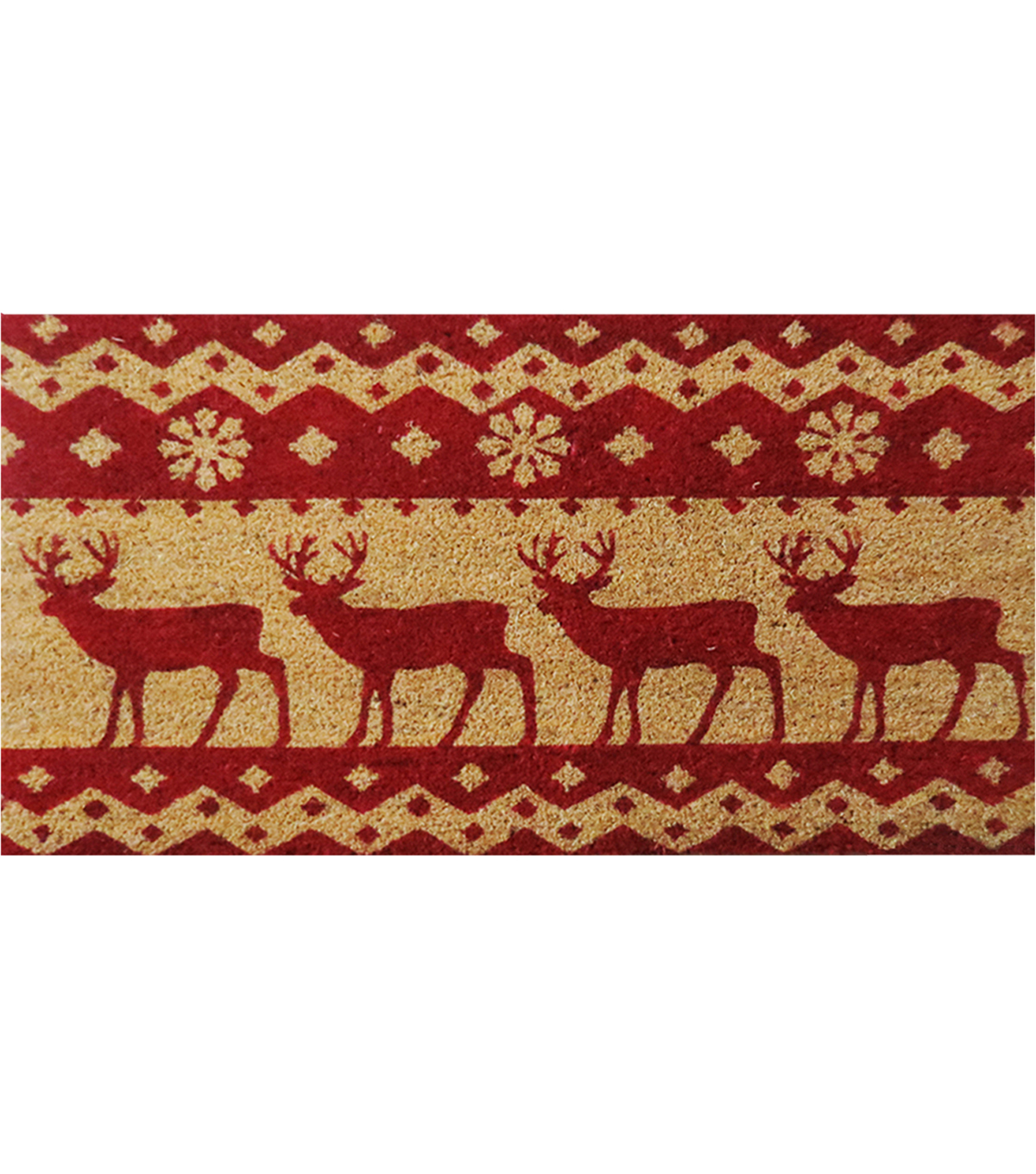 Maker\u0027s Holiday Coir Mat-Red Deer