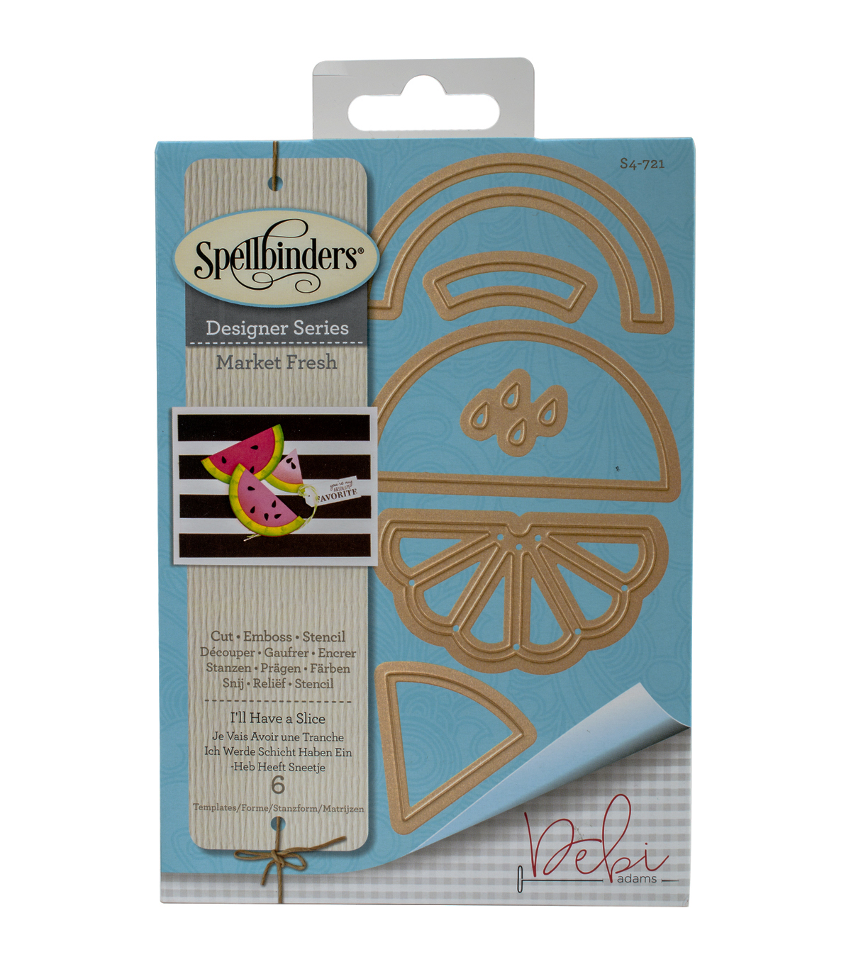 Spellbinders® Shapeabilities® Etched Die-I'll Have A Slice