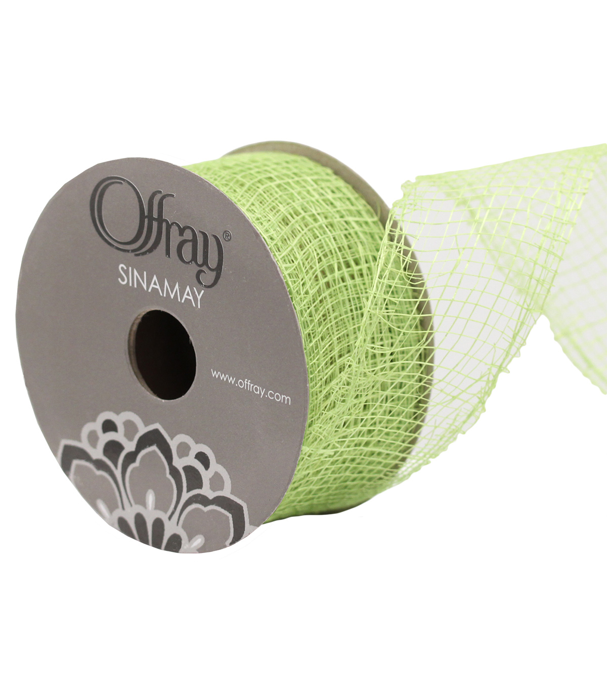 Sinamay 1 And Half In Lime Adhs Rbn Ribbon