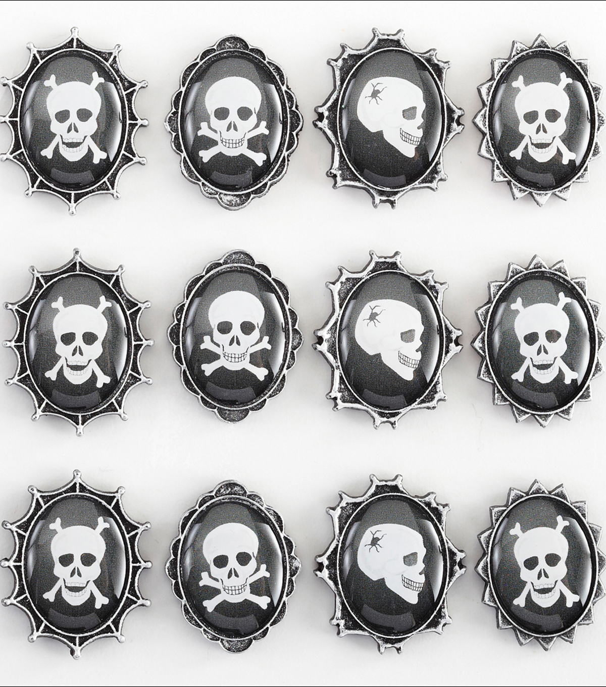 Jolee\u0027s Boutique Dimensional Stickers-Skull Cameos