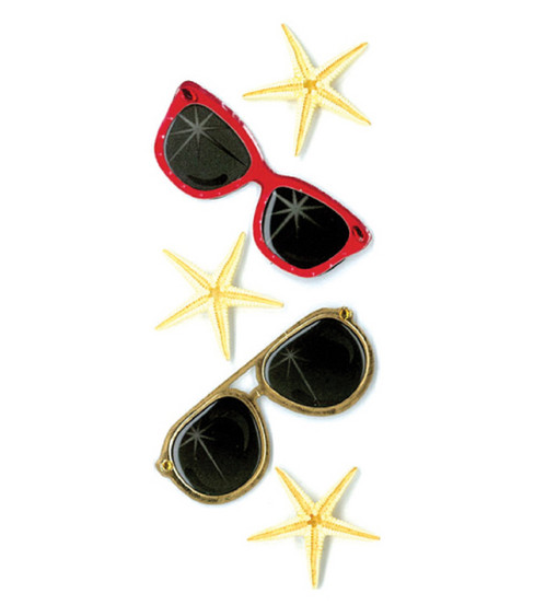 Jolee\u0027s By You Dimensional Slim Stickers-Sunglasses