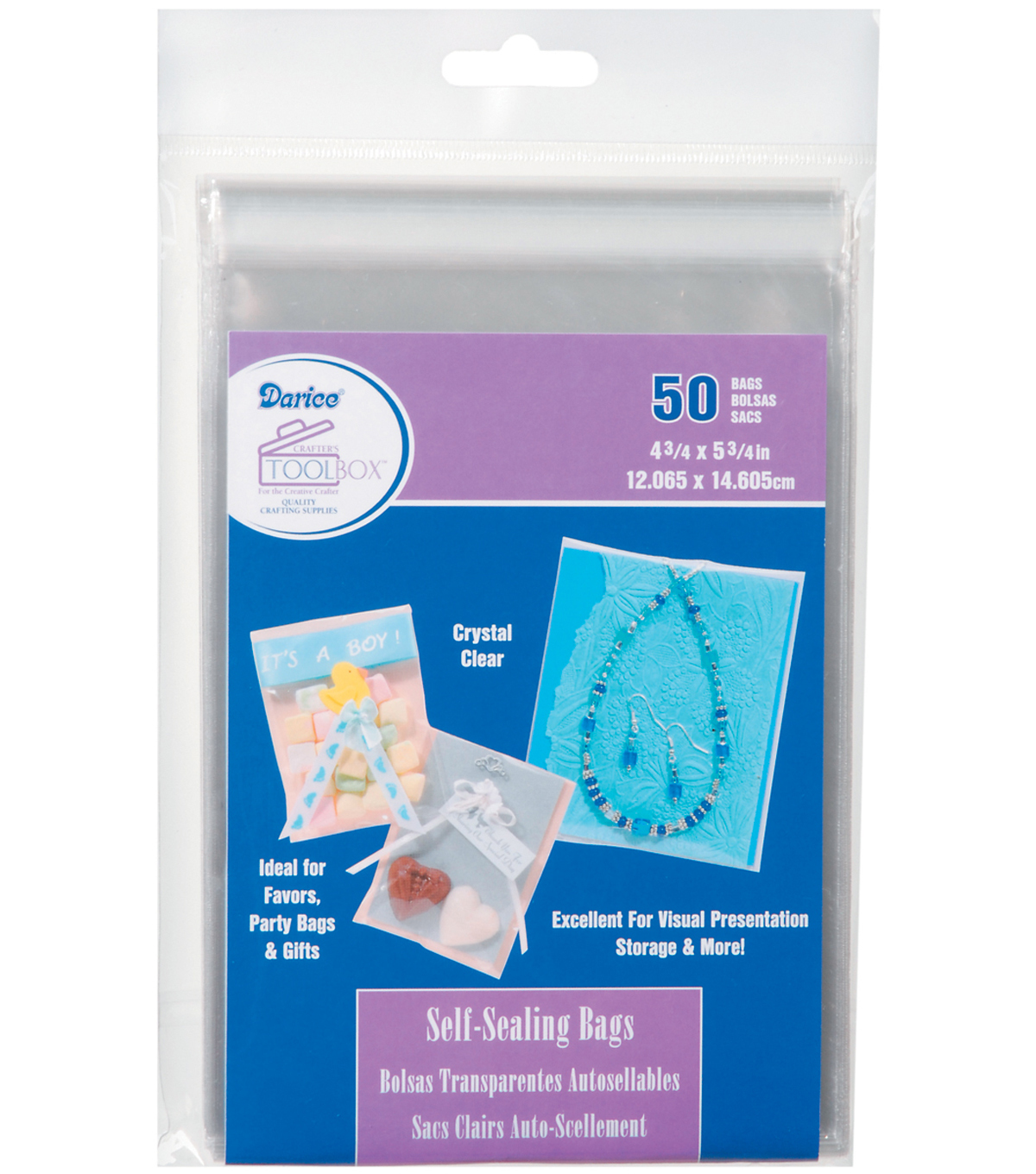 Darice Self Sealing Bags 4.75\u0022x5.75\u0022
