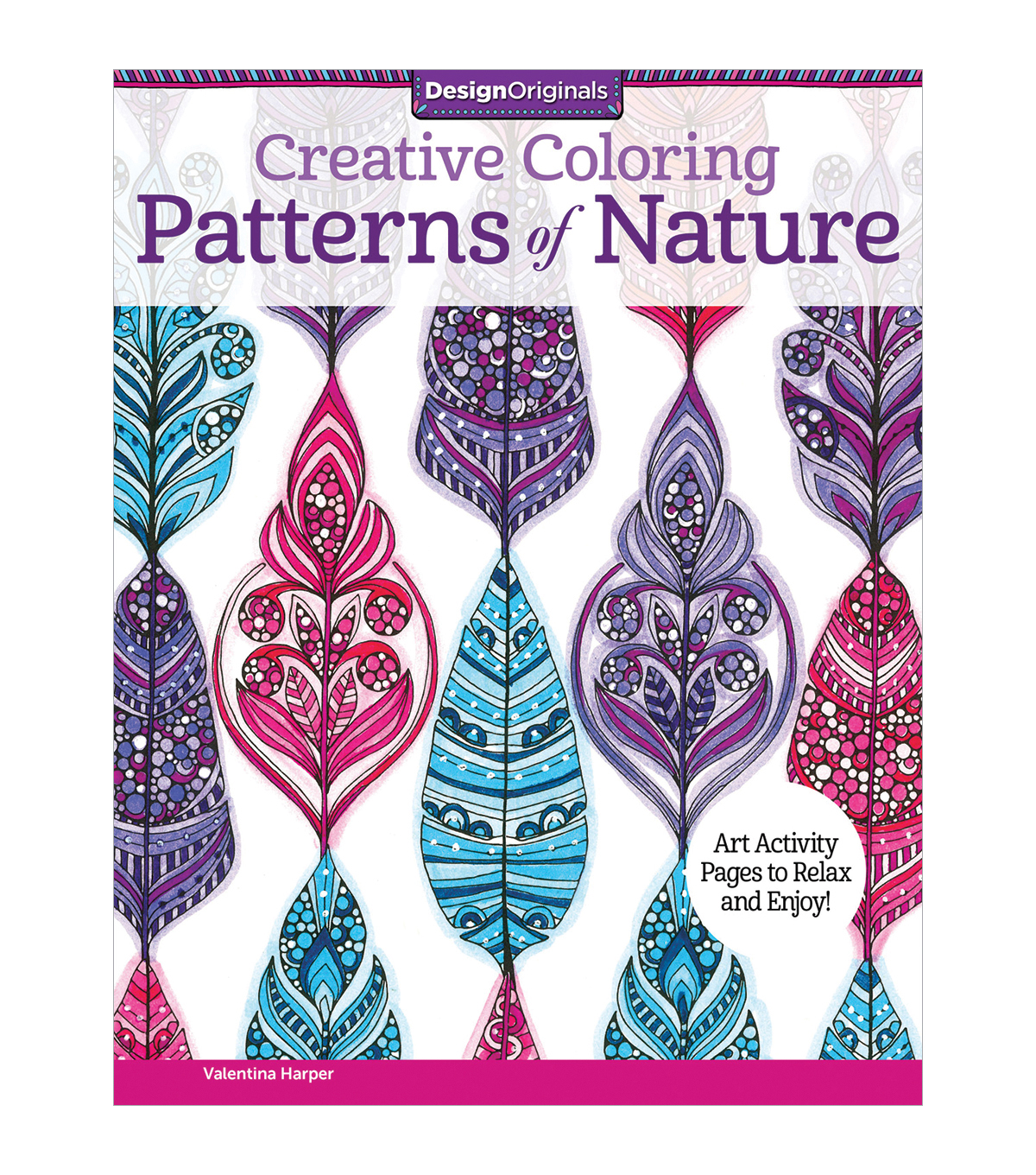 Adult Coloring Book-Design Originals Creative Coloring Patterns Of Nature