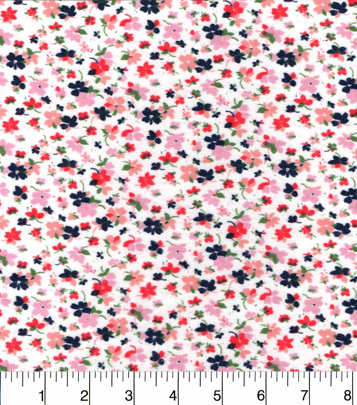"Snuggle Flannel Fabric 42""-Lavender Pink Floral"