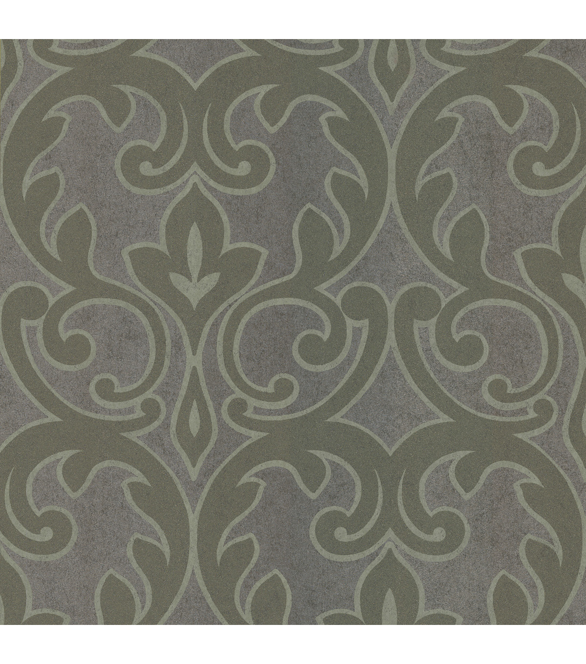 Dior Grey French Damask Wallpaper